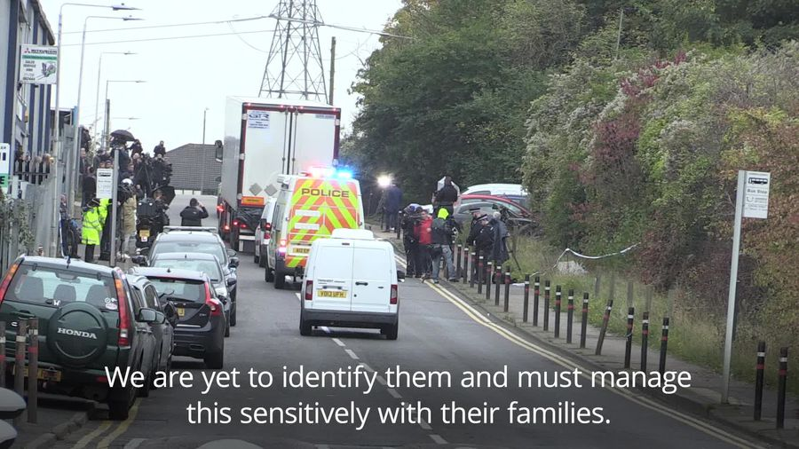 Police move trailer with 39 bodies in Grays