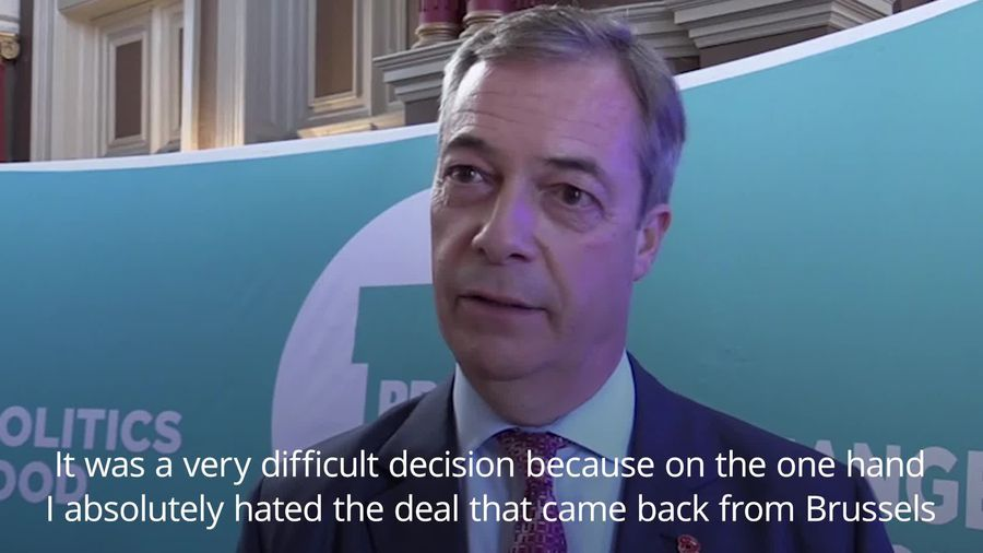 Farage says Brexit Party candidates were stood down 'to stop Lib Dems getting in'