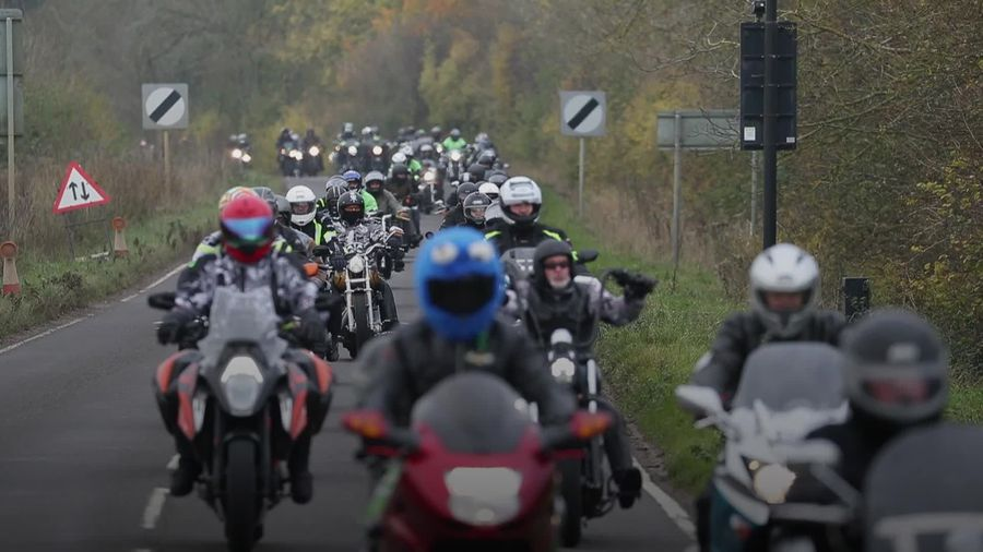 Hundreds of bikers pay tribute to Harry Dunn