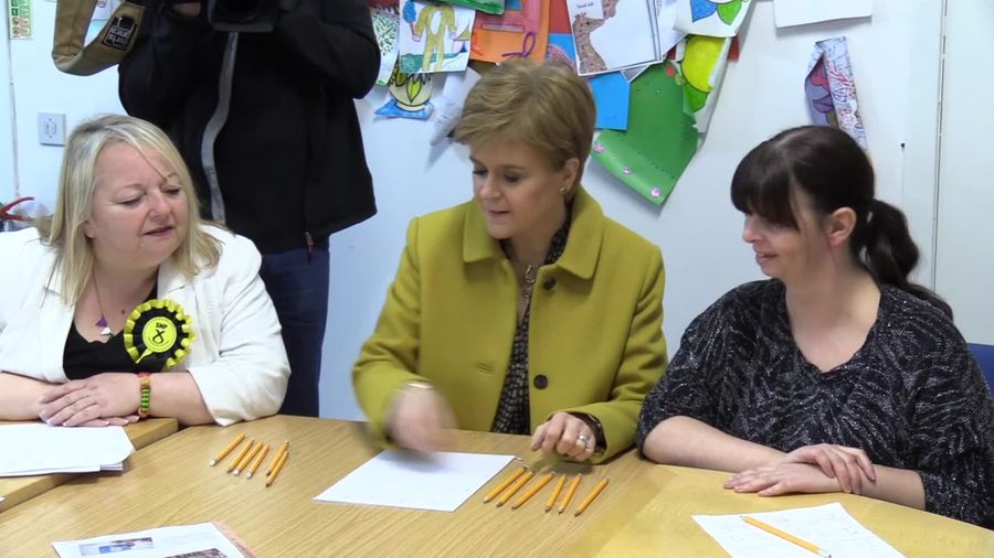Nicola Sturgeon responds to Alex Salmond's court appearance on the campaign trail in Glasgow