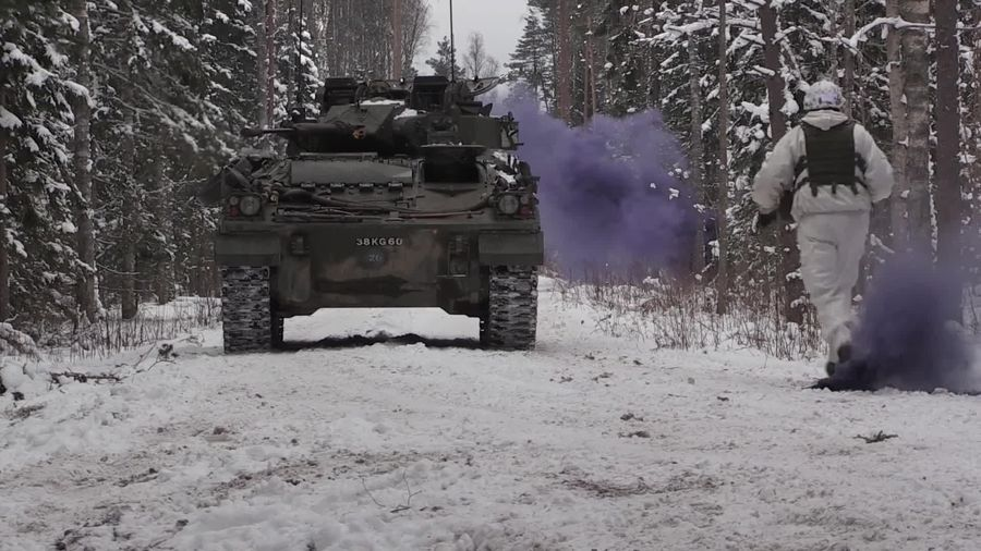 British and Estonian troops go head-to-head in war game