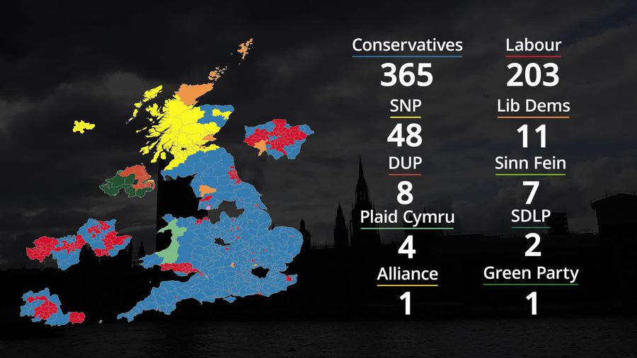 Election 2019: How the UK constituency map looks after Tory victory