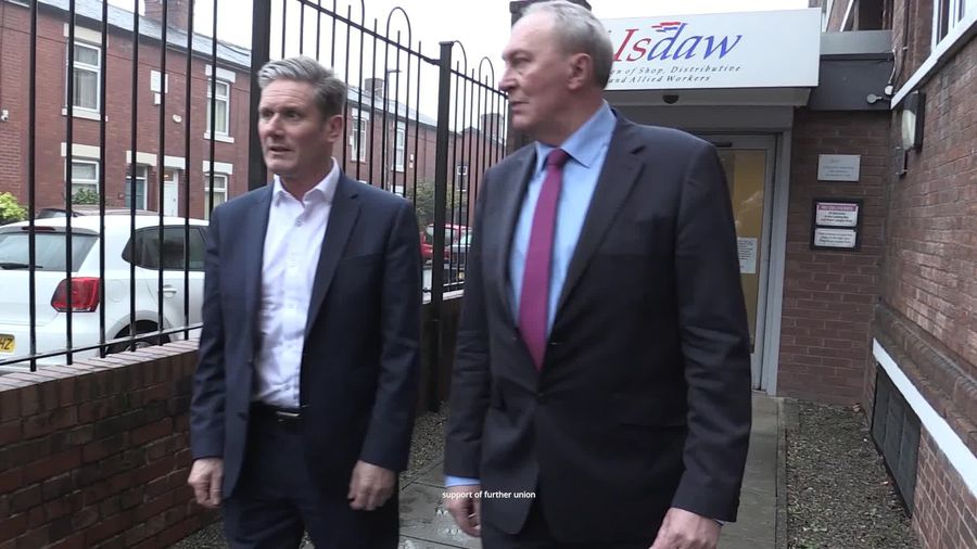 Keir Starmer says he can unite Labour after gaining backing from Usdaw union