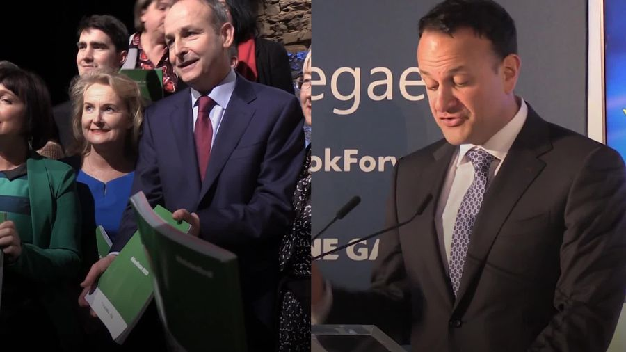Fianna Fail and Fine Gael unveil manifestos for General Election