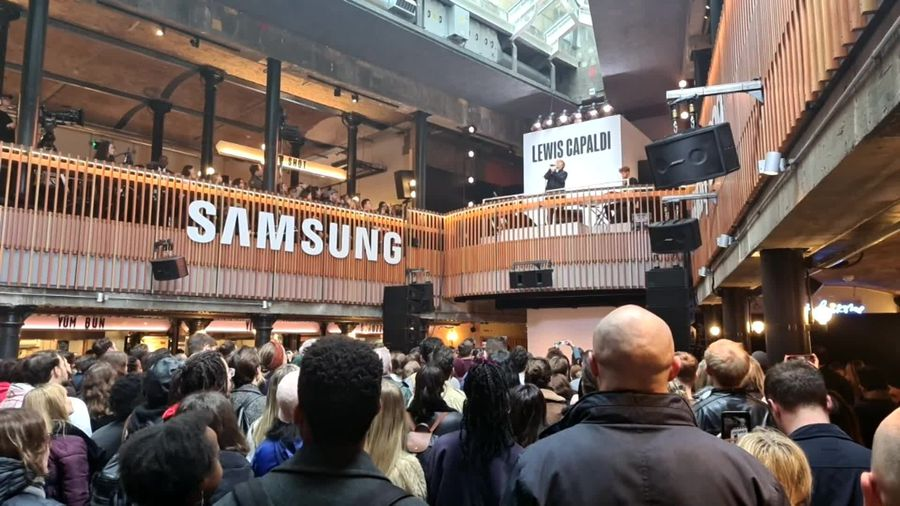 Lewis Capaldi plays surprise gig at Samsung Galaxy S20 launch