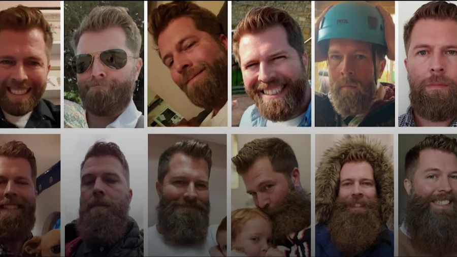 Man trims mammoth beard after hitting his cancer charity target