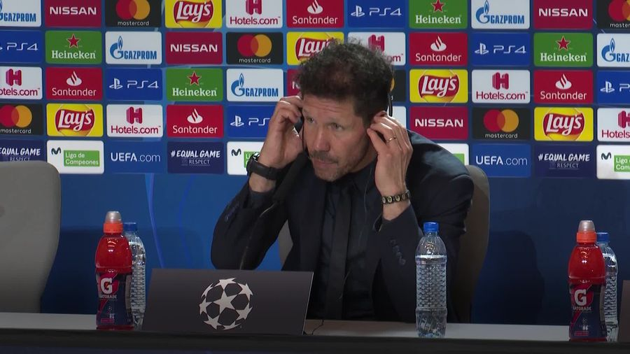 Diego Simeone 'not thinking of Anfield atmosphere'