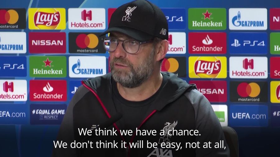 Klopp: Liverpool have a chance in second leg against Atletico