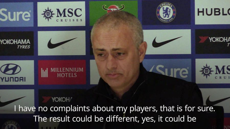 Jose Mourinho: I have no complaints about my players