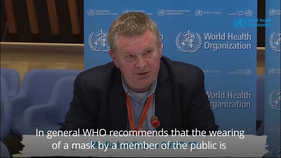 WHO: No recommendation for well individuals to wear masks