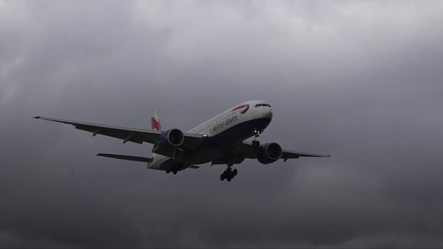 UK air traffic down by almost 90% compared with last year