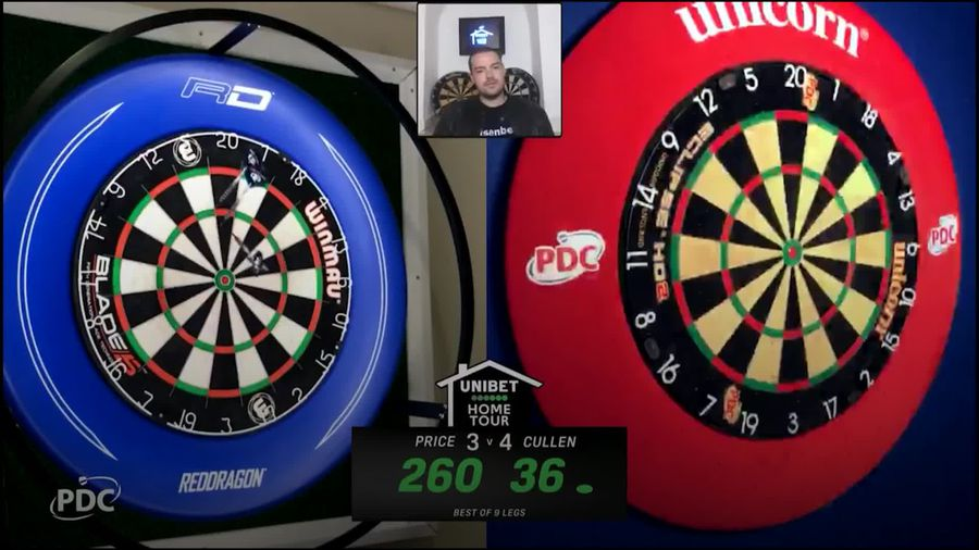 World number three Gerwyn Price falls short again in PDC Home Tour