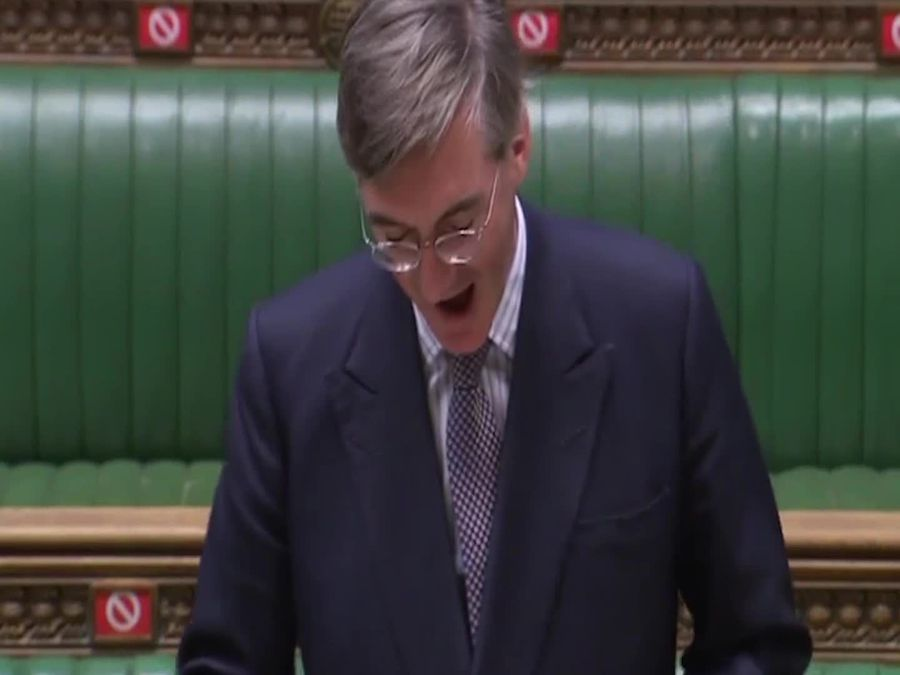 Jacob Rees-Mogg jokes about the need for a lockdown haircut