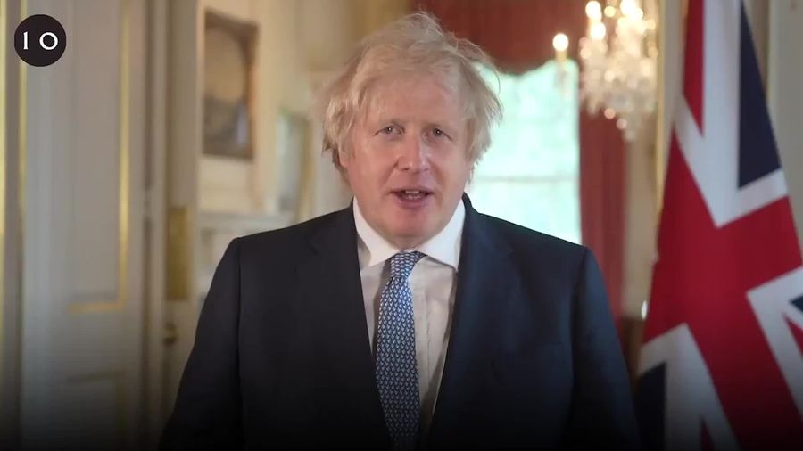 Boris Johnson thanks school leavers for their hard work during the pandemic