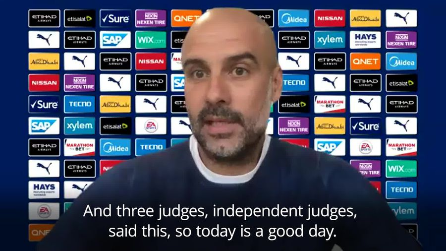 Pep Guardiola welcomes CAS ruling and says Man City deserve apology