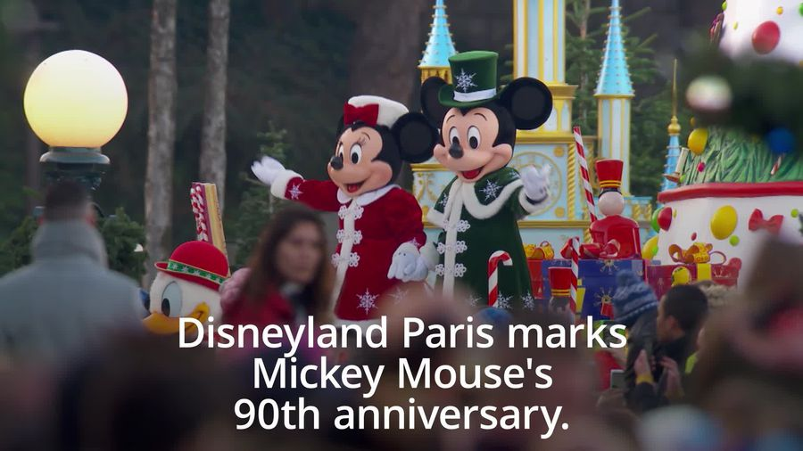 Celebs join Mickey Mouse's 90th celebrations at Disneyland Paris
