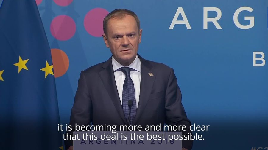 Tusk: May's Brexit deal 'the only possible one'