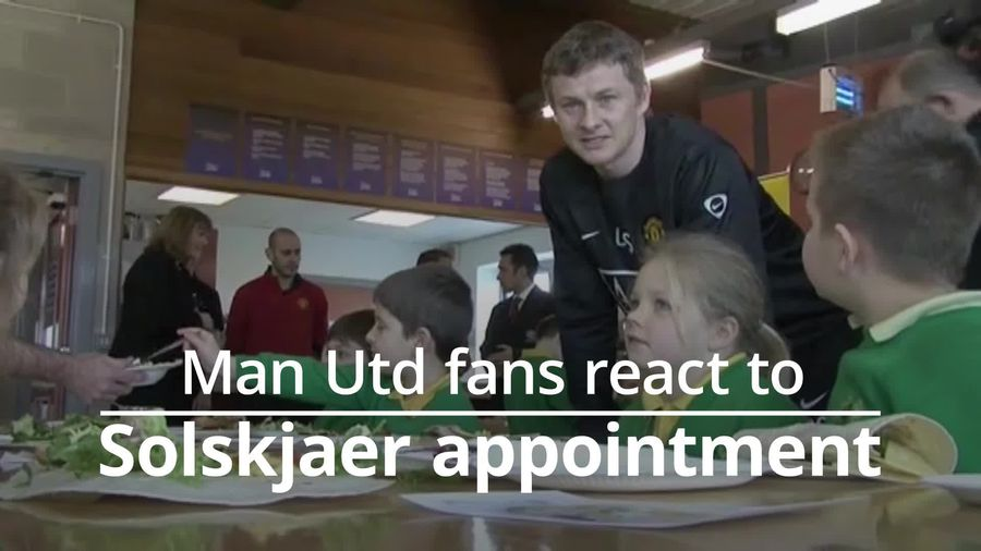 Manchester United fans react to Solskjaer appointment
