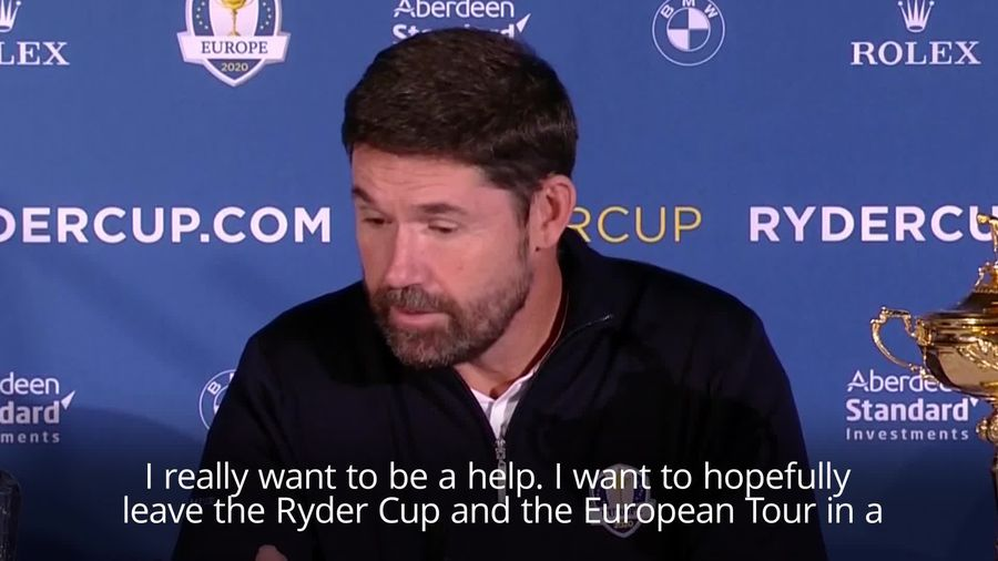 Padraig Harrington 'thrilled' to be named Europe's Ryder Cup captain