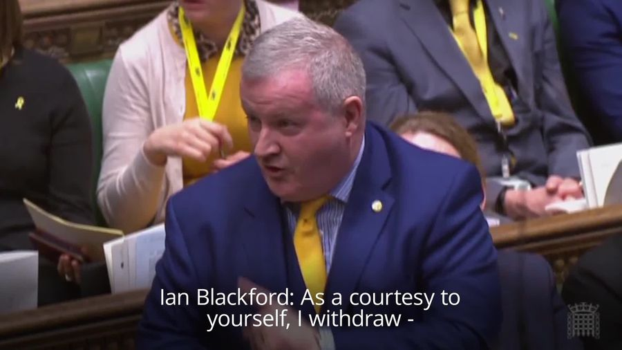 SNP Westminster leader Ian Blackford brands Theresa May a 'liar' in Parliament