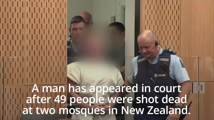 Suspect appears in court over New Zealand mosque shootings