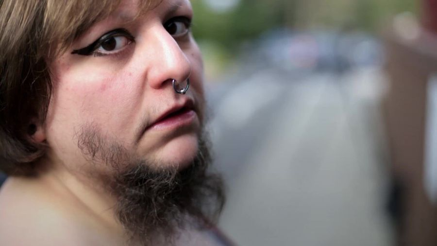 Bearded lady weds man in a Christian-Satanist ceremony