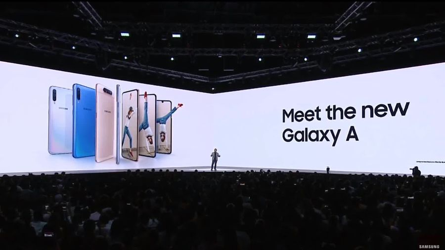 Samsung launches the Galaxy A80 and A70
