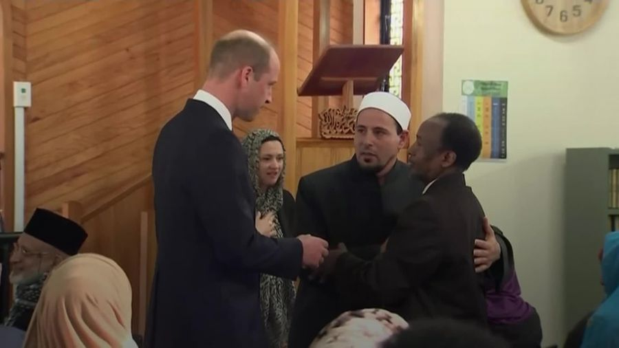 William's sorrow for Christchurch attack mosque families