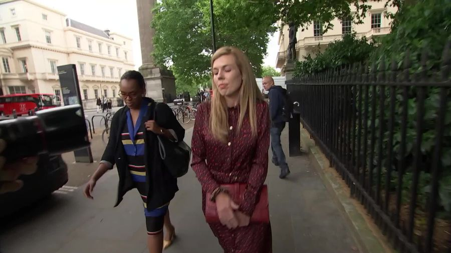 Watch Carrie Symonds Departs Boris Johnson S Tory Leadership Launch