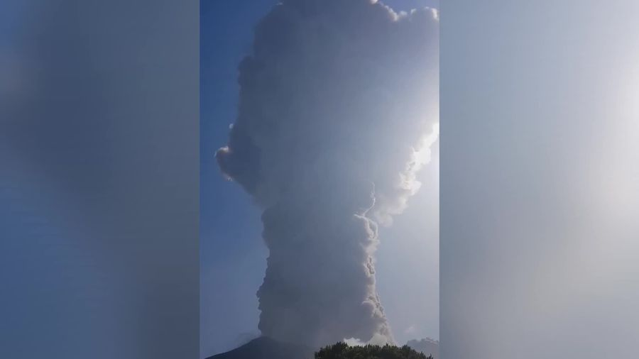 Emergency workers record dramatic aftermath of Stromboli volcano eruption