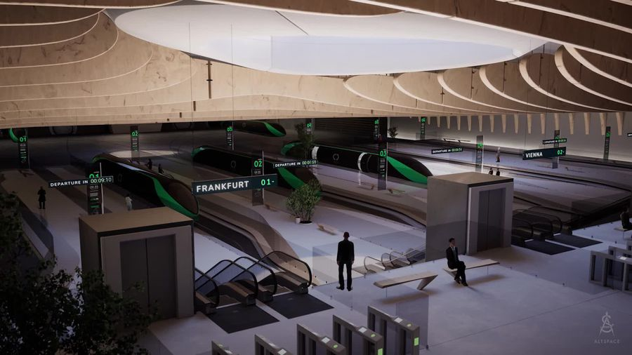 Take a look at a design for potential Hyperloop stations