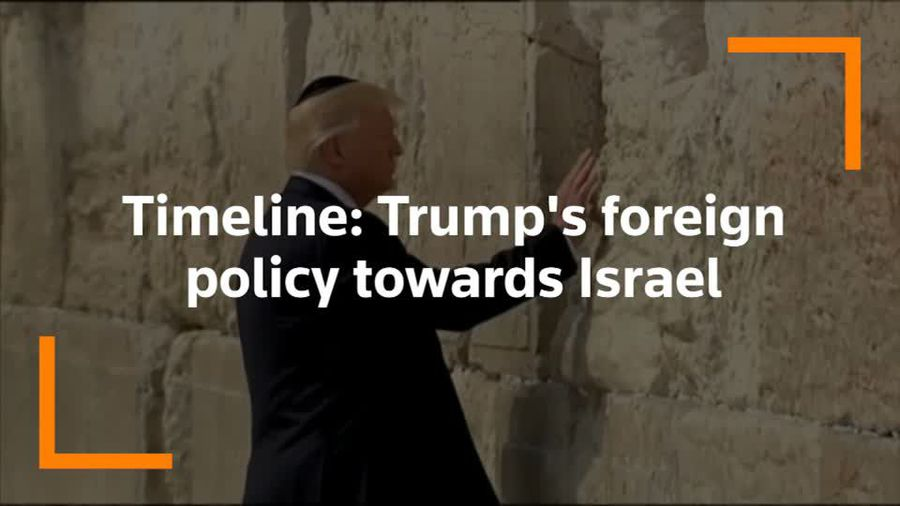 Timeline: Trump's foreign policy towards Israel