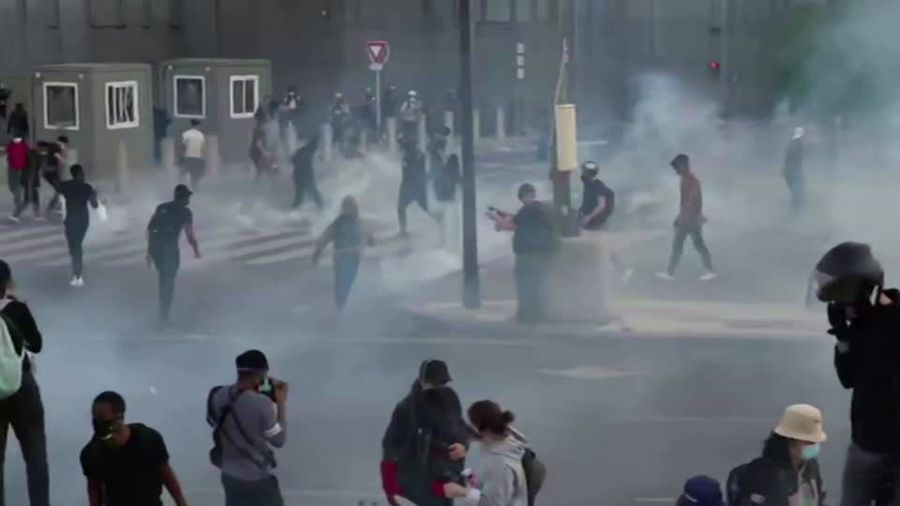 Angry protests in Paris over death of black Frenchman