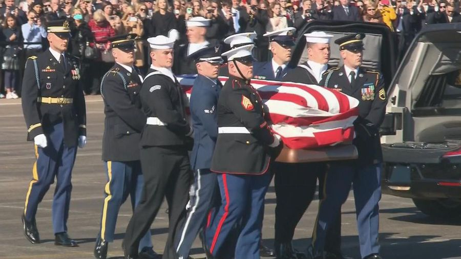 Final farewells underway for George H.W. Bush