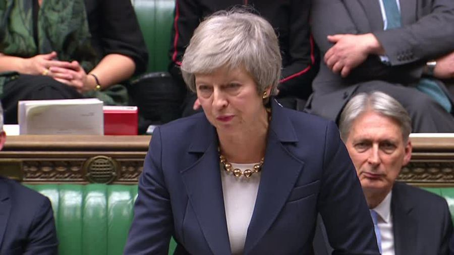 May suffers embarrassing start to parliamentary debate