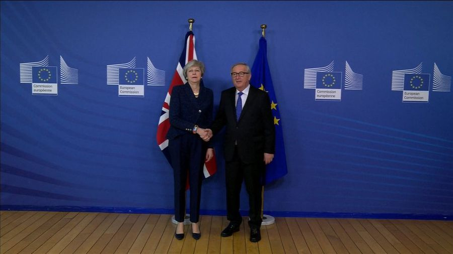 UK's May takes Brexit renegotiation to EU