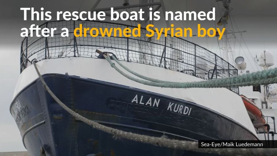 German NGO names rescue boat after drowned Syrian boy