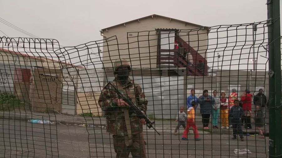 South African soldiers deployed in Cape Town to help fight gangs