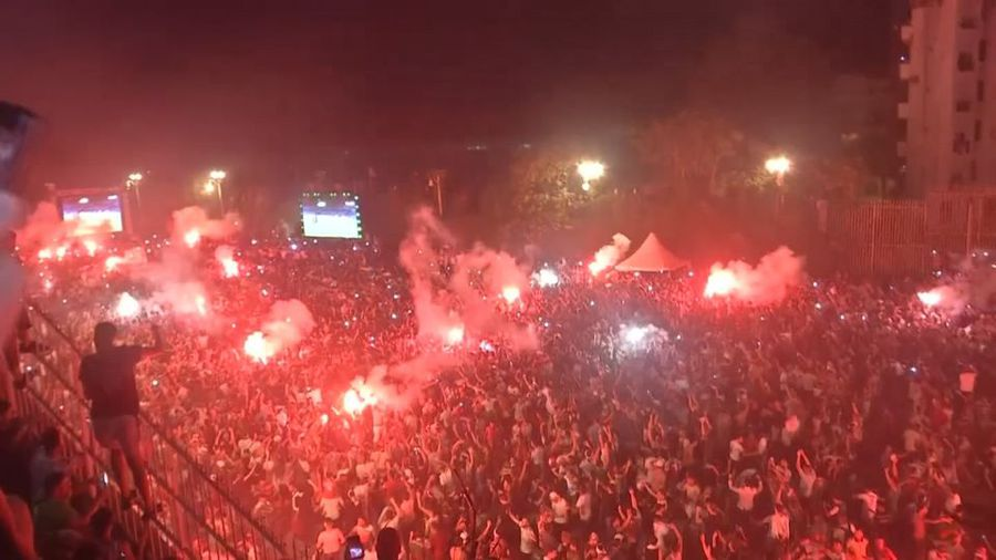 Algerians celebrate wildly after Africa Cup of Nations victory