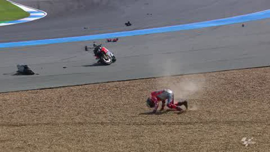 Watch Dramatic MotoGP crash forces Lorenzo withdrawal from
