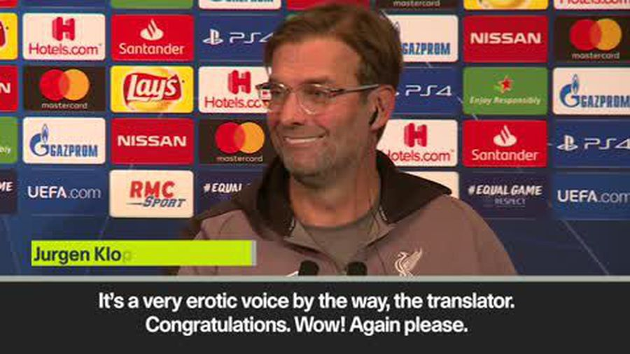 Jurgen Klopp excited by translator's 'erotic' voice during news conference