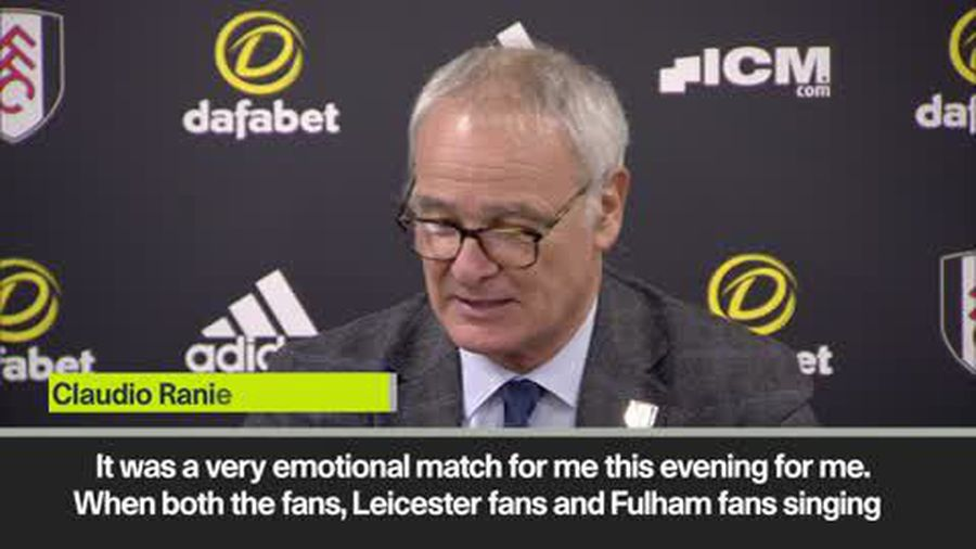 'Very emotional' Ranieri after return to Leicester for 1-1 draw