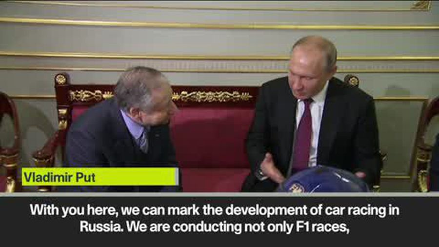Vladimir Putin discusses motorsport in Russia