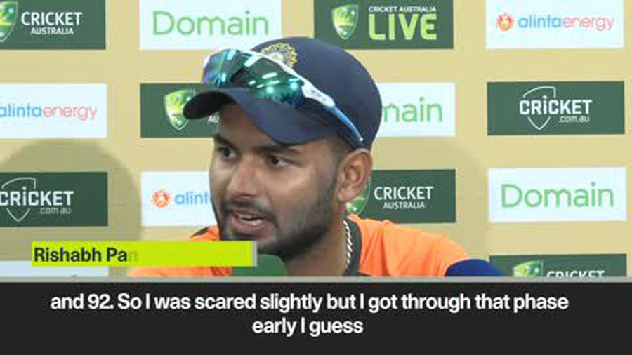 """To be honest I was a bit nervous"" Rishabh Pant after scoring 159 against Australia"