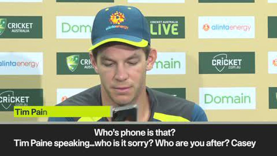 """It's Tim Paine speaking ..."" Aussie skipper takes phone call"