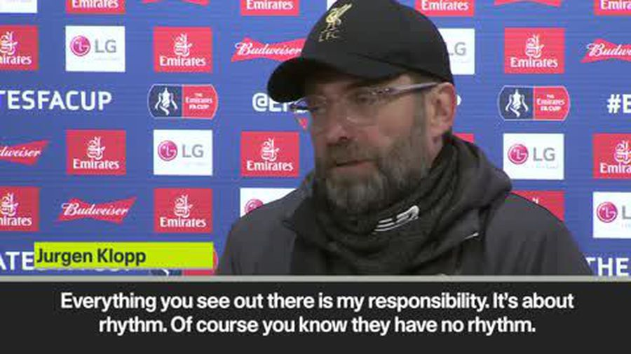 Klopp blames lack of match rhythm for rotated players after FA Cup defeat at Wolves