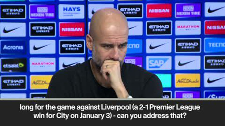 No turf war with Liverpool - Guardiola dismisses pitch request claims
