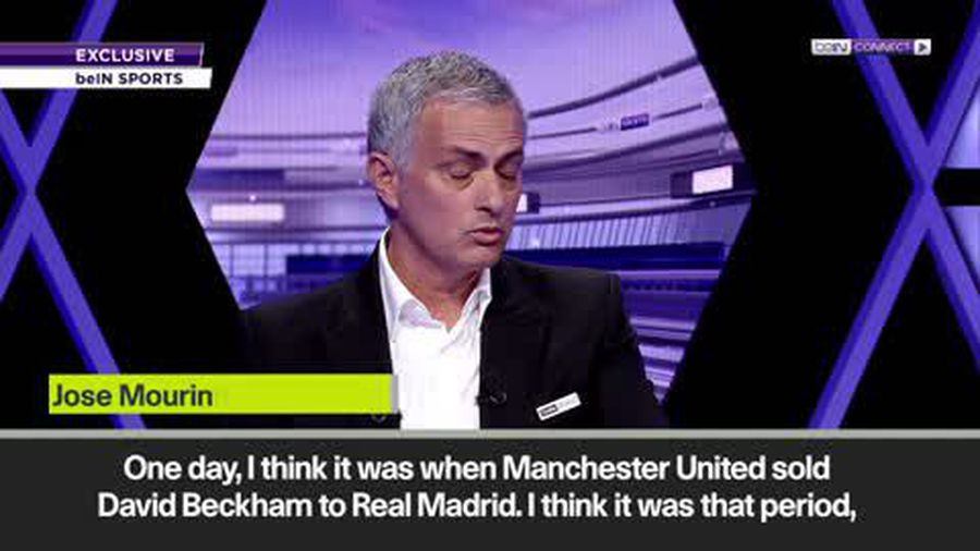 Mourinho on player power difference now compared to when since Sir Alex sold Beckham