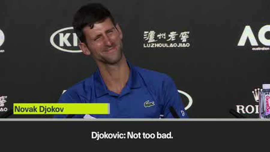 Djokovic teases the Italian journalist who fell asleep during Nadal's news conference