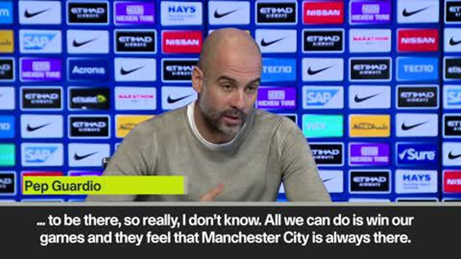 """Guardiola - Need to let Liverpool """"feel we are there"""""""